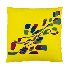 Yellow abstraction Standard Cushion Case (Two Sides)