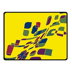 Yellow abstraction Fleece Blanket (Small)