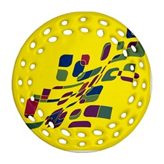 Yellow abstraction Ornament (Round Filigree)