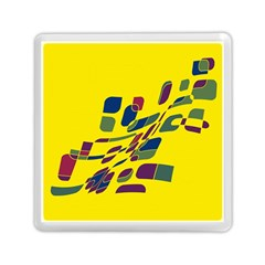 Yellow abstraction Memory Card Reader (Square)