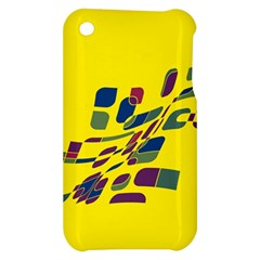 Yellow abstraction Apple iPhone 3G/3GS Hardshell Case