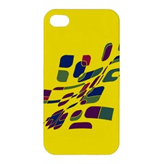 Yellow abstraction Apple iPhone 4/4S Hardshell Case