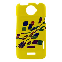 Yellow abstraction HTC One X Hardshell Case