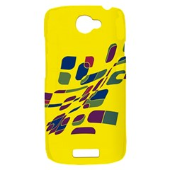 Yellow abstraction HTC One S Hardshell Case