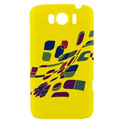 Yellow abstraction HTC Sensation XL Hardshell Case