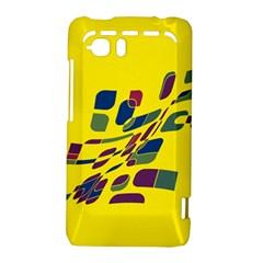 Yellow abstraction HTC Vivid / Raider 4G Hardshell Case