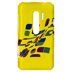 Yellow abstraction HTC Evo 3D Hardshell Case