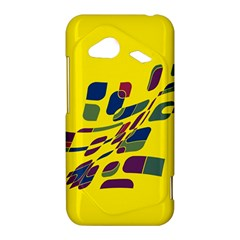 Yellow abstraction HTC Droid Incredible 4G LTE Hardshell Case