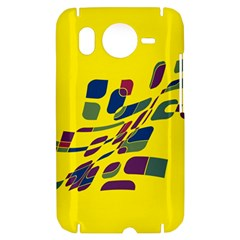 Yellow abstraction HTC Desire HD Hardshell Case