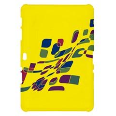 Yellow abstraction Samsung Galaxy Tab 10.1  P7500 Hardshell Case