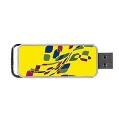 Yellow abstraction Portable USB Flash (One Side)