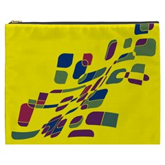 Yellow abstraction Cosmetic Bag (XXXL)