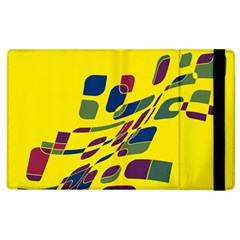 Yellow abstraction Apple iPad 3/4 Flip Case