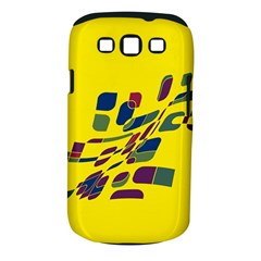 Yellow abstraction Samsung Galaxy S III Classic Hardshell Case (PC+Silicone)