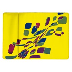 Yellow abstraction Samsung Galaxy Tab 10.1  P7500 Flip Case
