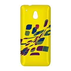 Yellow abstraction HTC One Mini (601e) M4 Hardshell Case
