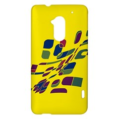 Yellow abstraction HTC One Max (T6) Hardshell Case