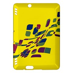 Yellow abstraction Kindle Fire HDX Hardshell Case
