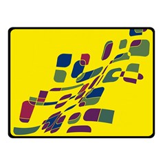 Yellow abstraction Double Sided Fleece Blanket (Small)