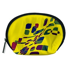 Yellow abstraction Accessory Pouches (Medium)