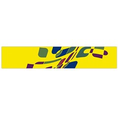 Yellow abstraction Flano Scarf (Large)