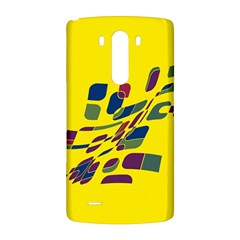 Yellow abstraction LG G3 Back Case