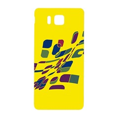 Yellow abstraction Samsung Galaxy Alpha Hardshell Back Case