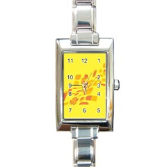 Yellow abstraction Rectangle Italian Charm Watch