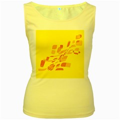 Yellow abstraction Women s Yellow Tank Top