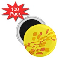 Yellow abstraction 1.75  Magnets (100 pack)