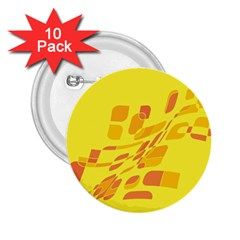 Yellow abstraction 2.25  Buttons (10 pack)