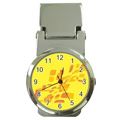 Yellow abstraction Money Clip Watches