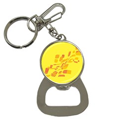 Yellow abstraction Bottle Opener Key Chains