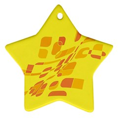 Yellow abstraction Star Ornament (Two Sides)