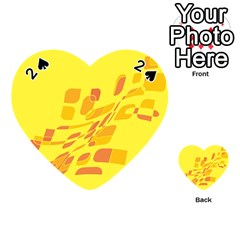 Yellow abstraction Playing Cards 54 (Heart)