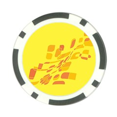 Yellow abstraction Poker Chip Card Guards