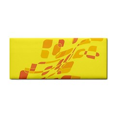 Yellow abstraction Hand Towel