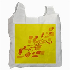 Yellow abstraction Recycle Bag (Two Side)