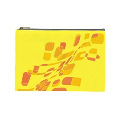 Yellow abstraction Cosmetic Bag (Large)