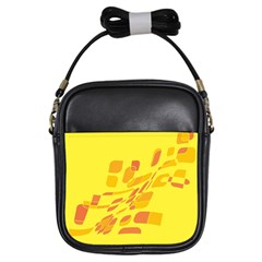 Yellow abstraction Girls Sling Bags