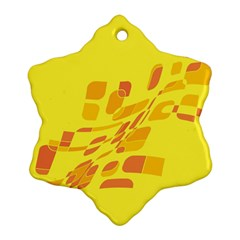 Yellow abstraction Snowflake Ornament (2-Side)