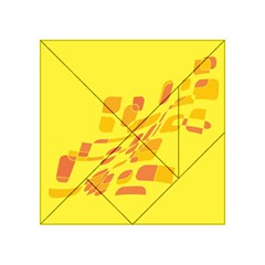 Yellow abstraction Acrylic Tangram Puzzle (4  x 4 )