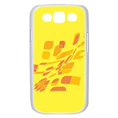 Yellow abstraction Samsung Galaxy S III Case (White)