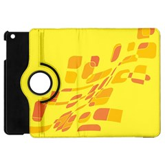 Yellow abstraction Apple iPad Mini Flip 360 Case