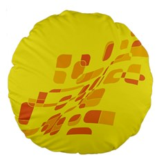 Yellow abstraction Large 18  Premium Round Cushions