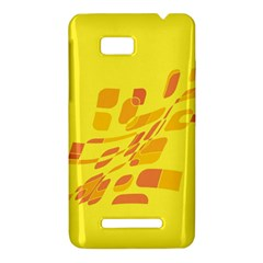 Yellow abstraction HTC One SU T528W Hardshell Case