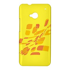 Yellow abstraction HTC One M7 Hardshell Case