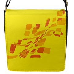 Yellow abstraction Flap Messenger Bag (S)