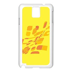 Yellow abstraction Samsung Galaxy Note 3 N9005 Case (White)