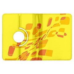 Yellow abstraction Kindle Fire HDX Flip 360 Case